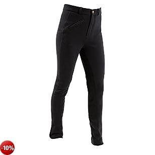 Kerbl - Pantaloni da equitazione, per bambini, Economic Teens, Nero (nero), 146