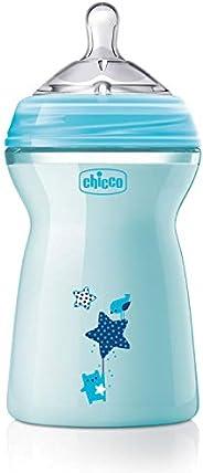 Chicco NaturalFeeling Biberon Anticolica 6+ Mesi, 330 ml, con Tettarella centrale e allungata per i bambini pi