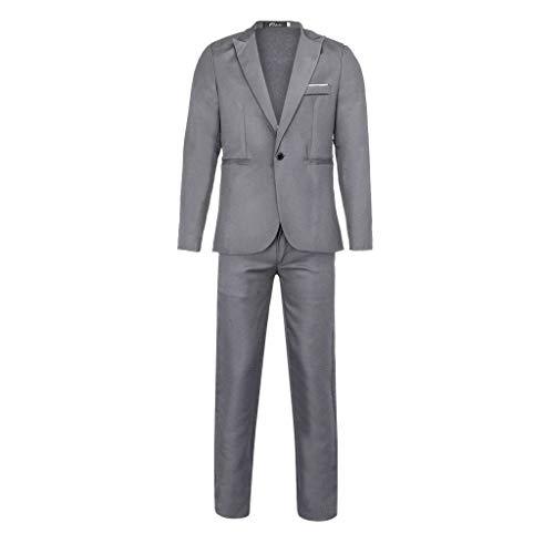 Herren Anzüge für Hochzeit 2019 ♣ Herren [ Kleid, Jacke, formelle Blazer] Slim Button Solid Host Show Coat & Hose, 2 Stück