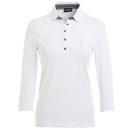 3-4-golfino-comodidad-seca-golf-polo-manga-senoras-blanco-color-blanco-blanco-tamano-10-s