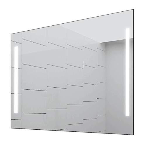 Concept2u® Badspiegel Enjoy Badezimmerspiegel mit 4.000K neutralweißer Beleuchtung 100 cm Breit x 80 cm Hoch Licht Links+RECHTS