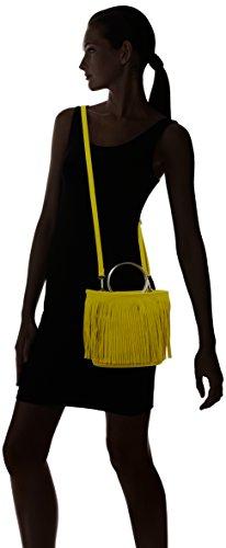 Swanky Swans - Sasha Swish Fringe, Borse a tracolla Donna Giallo (Mustard Yellow)