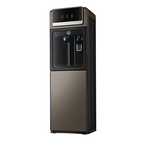 Dispensador De Agua Caliente Y Fría Vertical, Hogar Automático Aislamiento Hielo Doble Caliente Puerta De Vidrio Templado Refrigeración342*330 * 1015Mm