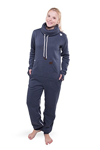 Jumpster Damen Herren Jumpsuit Turtleneck Onesie Exquisite Regular Fit Blau L - 3