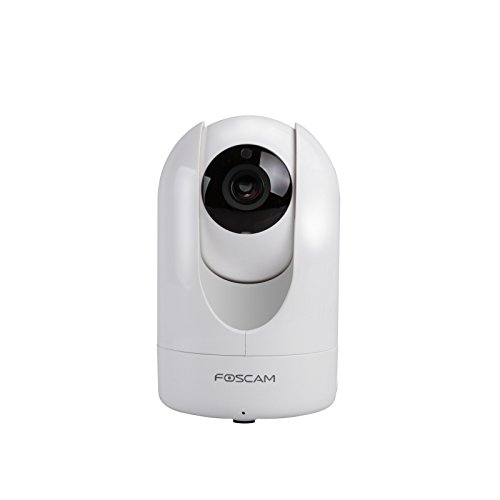 Foscam R4 - Telecamera IP Wi-Fi, Ultra HD 4.0 Megapixel, Motorizzata PTZ con Zoom 6x, Visione notturna, Motion Detection, E-mail Alert, microSD slot, ONVIF, P2P Plug & Play, Foscam Cloud