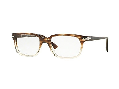 Persol Brillen 3131 1037, Striped Brown To Transparent Kunststoffgestell, 52mm
