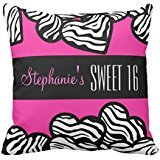 Cute Pink zebra heart Sweet 222216 pillow case cover