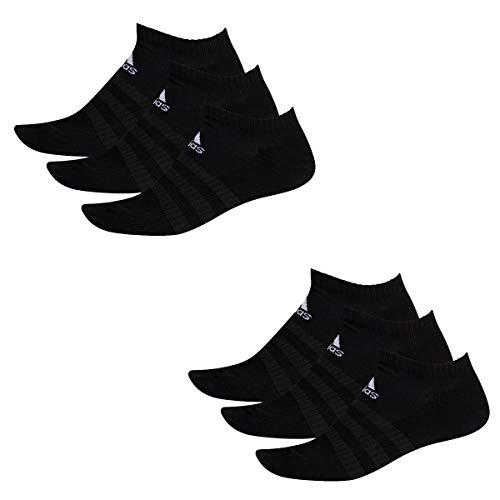 adidas 6 Paar Performance No Show Sneaker Socken Unisex Kurzsocke, Farbe:Black, Socken & Strümpfe:46-48 -
