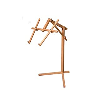 Marussia 1366 Mosel Embroidery Stand/Floor Stand, Easel, Wood, Brown, Without Embroidery Frame