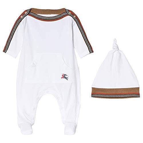 BURBERRY Baby Jungen (0-24 Monate) Bekleidungsset Weiß weiß Gr. 9 Monate, weiß