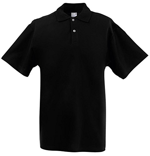 Fruit of the Loom Herren Poloshirt Screen Stars Polo Black