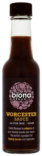 Biona Organic Worcester Sauce 140 ml (Pack of 3)