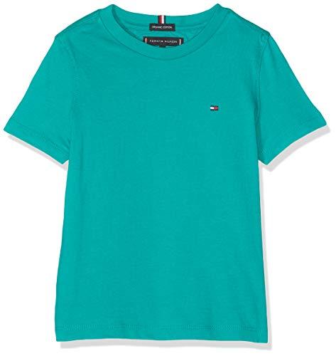 Tommy Hilfiger Essential Original CTTN tee S/s Camiseta, Verde (Dynasty Green 303), 98 (Talla del Fabricante: 3) para Niños