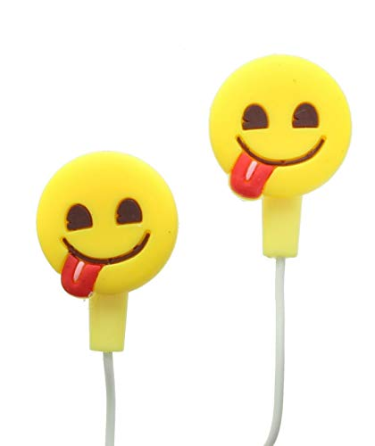 Emoji Smile With Tongue Face Earphones With Silicone Buds For Phones &  Tablets