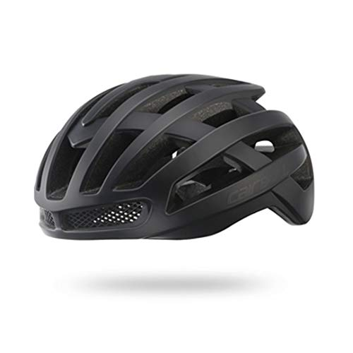 DEHPOOG Aero Fahrradhelm Pneumatische Sicherheit TT Fahrradhelme Für Männer Frauen Racing Rennrad Helm Fahrradhelm Mann Black M