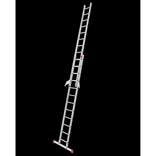 KRAUSE Alu Sprossen SchiebeLeiter Fabilo® 2x9 2x12 2x15 2x18 Sprossen EN 131-1, Sprossenzahl:2 x 12 Sprossen
