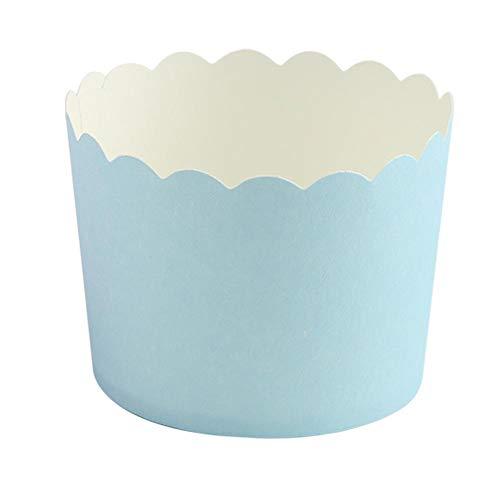 iner Mini Runde Kuchen Papier Backförmchen Gebäck Muffin Formen für Zuhause Geburtstagsfeier Hochzeit MEHRWEG VERPACKUNG (Blau) ()