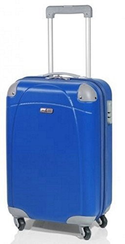 Trolley John Travel 67 cm, 62 Litros 4 Ruedas - Azul