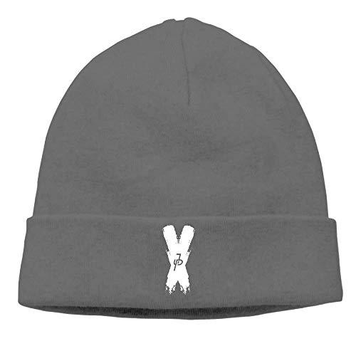 Sdltkhy Jake Paul White X Logo Unisex Beanie Cappello e Berretto da slittino Popolari con Risvolto Polsino Multicolor94