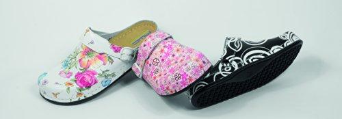 AWC Footwear, Zoccoli donna (Blumen weiß)