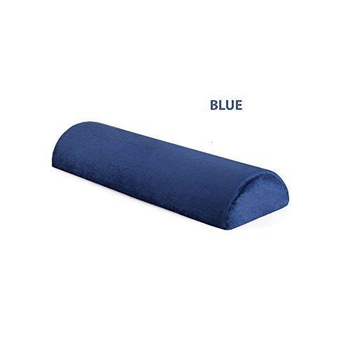 J.O.Y Halbmondförmiges Kissen aus Memory-Schaum, für Nacken, unteren Rücken, Knie, Beine, Füße praktisch Jede Position. (Blau) (Nackenrolle Kissen-memory-schaum)