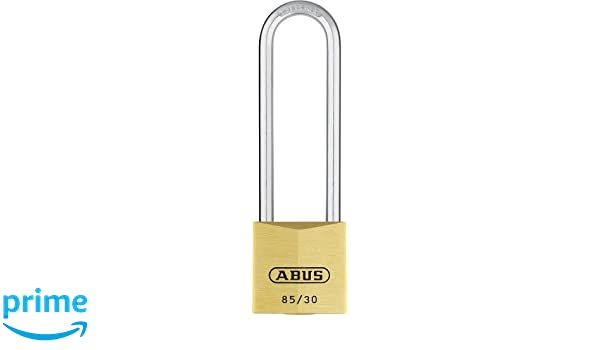 ABUS 04720 65mm Long Shackle Service Brass Padlock with 402 Alike Keyed