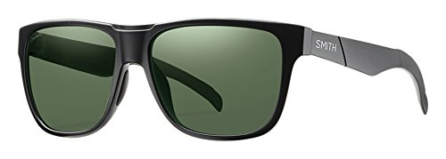 Smith Optics Herren Sonnenbrille Sportbrille Lowdown, schwarz (Matt Black/Chroma Pop Grey Green Polar), Einheitsgröße