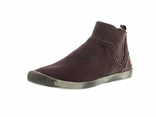 Schlupfstiefelette softinos IMI412SOF smooth leather HW17, Farbe:dunkelbraun, Größe:38