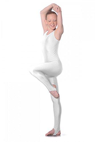 Sleeveless Nylon/Lycra Catsuit M Weiß (Unitard Nylon)