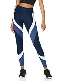 Amazon-Marke: AURIQUE Damen Colour Block-Sportleggings