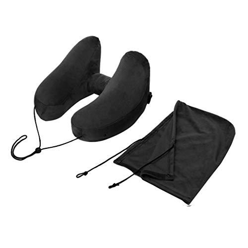 H-Form mit Kapuze PVC aufblasbares Kissen,aufblasbares Schlafkissen der Reise,35Cmx32Cmx21Cm Kissen-Hut-Sätze,damit das Fahren des Innenministeriums zusätzliche Ansatzunterstützung erhält