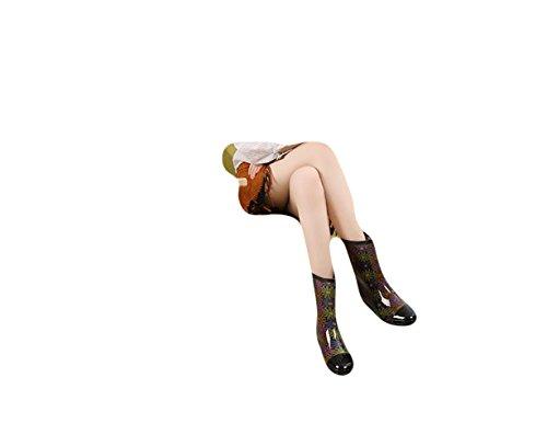 Ein Damen Dick Ohne Gummistiefel Fleece Sohle Bißchen Orange Kurz Rzwq5zfr