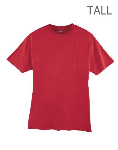 hanes-herren-asymmetrischer-t-shirt-x-large-tall-rot
