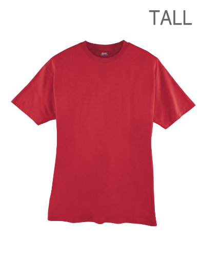 hanes-camiseta-asimtrico-manga-corta-para-hombre-x-large-tall-rojo