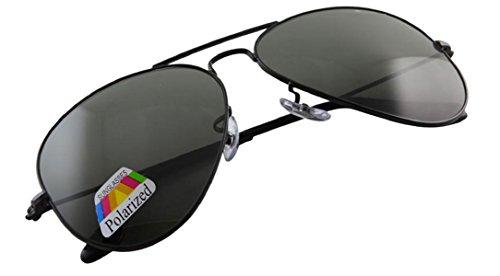 4sold Klassische Pilotenbrille Unisex Polarisierte Sonnenbrille Fliegerbrille Pornobrille in vielen Farbkombinationen (Schwarz)