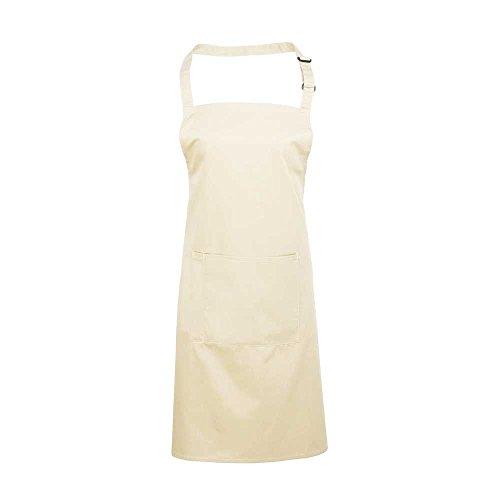 Premier Workwear Colours Bib Apron with Pocket, Top Donna bianco avorio