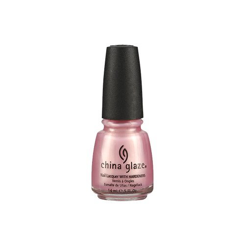 China Glaze Nail Lacquer with Hardner - Pearly Effect - Exceptionally Gifted, 1er Pack (1 x 14 ml) - Glaze Pink China