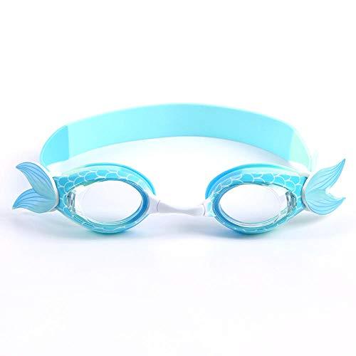 XRYG Gafas de natación impermeables para niños de dibujos animados de silicona de grado alimenticio Ocio Cómodas gafas de ajuste antiniebla Anti-ultravioleta-D