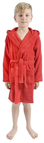 Strong Souls Boys Cotton Towelling Robe Red Size 7-8 Years