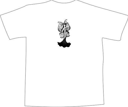 T-Shirt E1335 Schönes T-Shirt mit farbigem Brustaufdruck - Logo / Grafik / Design - filigran verzierte kleine Fee Mehrfarbig