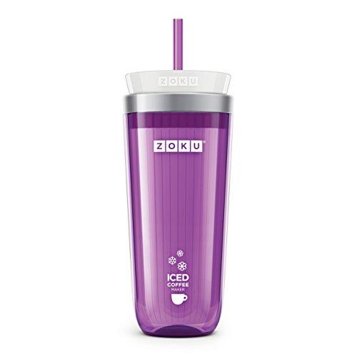 ZOKU ZK121-PU Eiskaffeezubereiter 325ml in violett, Kunststoff, (Iced Coffee Maker)