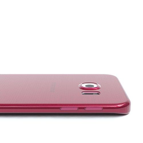 Samsung Galaxy S6 Edge Hülle - EAZY CASE Ultra Slim Cover Handyhülle - dünne Schutzhülle aus Silikon in Schwarz / Anthrazit Brushed Pink