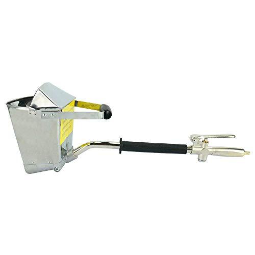 HUKOER Zementmörtel Spritzpistole Trichterpistole 4 Jet Hopper Putz Betonzement Sprayer Pistole Stuck Sprayer für Wände und Decken DIY (mit Deckel) (Wasser-jet-pistole)