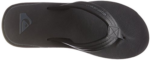 Quiksilver Herren Carver Nubuck - Sandals for Men Zehentrenner, Schwarz (Solid Black Sbkm), 44 EU -