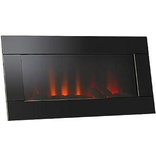 Lunartec LED Kamin: LED-Wandkamin mit LED-Flammen (LED Bild Kaminfeuer)