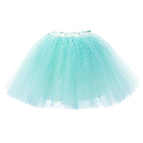 ini Tutu Ballett Mehrschichtige Rüschen Unterkleid Blau (Billige Tutus Für Frauen)