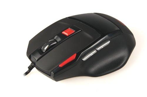 Natec G55 Genesis - Ratón óptico para juegos, color negro y rojo