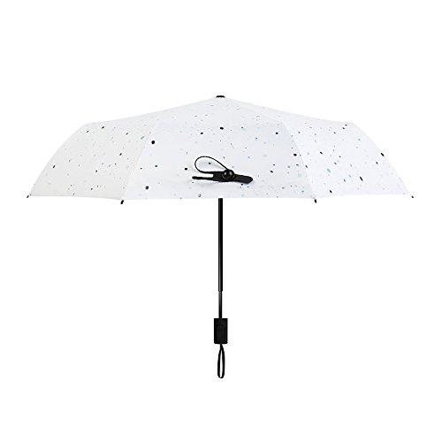 Jpp parasole estivo da donna protezione uv protezione solare ombrellone pieghevole antivento