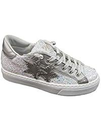 Two Stars Sneakers Glitterata con Platform Basso 8813cfc15b3