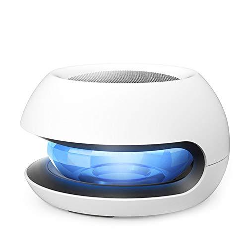 MRDEER Auto Luftreiniger Aroma Diffusor Solarenergie Negatives Ion Air Purifier mit Aktivkohlefilter, 3-Stufen-Filterung, Farbwechselbare LED, Sterilisation Desodorierung für Auto und Zuhause, Weiß